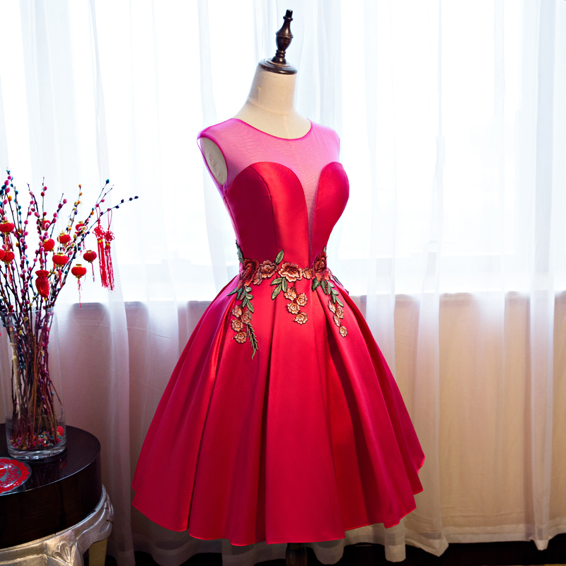 Red High Low Satin Short Prom Dress 2017 Robes De Soiree ...Red High Low Prom Dresses 2013