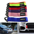 1pc 24cm x 5 cm Racing Car Styling Towing keychain 9 Colour Nylon Brand High Strength Universal JDM Sparcos Towing Ropes