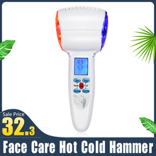 Face Care Device Hot Cold Hammer Cryotherapy Blue Photon Acne Treatment Skin Beauty Massager Lifting Rejuvenation Facial Machine ultrasonic face skin care spa beauty machine cryotherapy hot cold massage hammer face lifting firming wrinkle remover massager