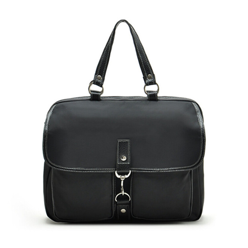 2016 Necessaire Women Handbags Office Bag Men Business Briefcase hand bag black Nylon Genuine Leather for 14 inch laptop japanese pouch small hand carry green canvas heat preservation lunch box bag for men and women shopping mama bag