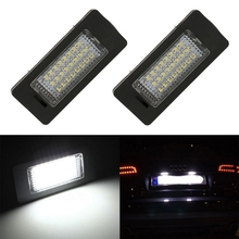 1 Pair White 24 LED Car License Plate Lights For PASSAT R36 Lamps Audi A4 B8 A5 S5 TT Q5 Cars Signal Light