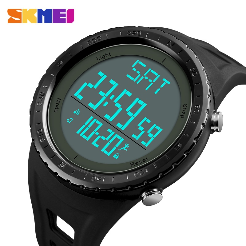 Men's Watches Energetic Outdoor Sports Watches Men Skmei Brand Countdown Led Mens Digital Watch Altimeter Pressure Compass Thermometer Reloj Hombre Bright In Colour Watches