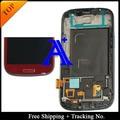 Бесплатная Доставка 100% тестирование 4.8 'Super AMOLED Для Samsung Galaxy S3 i9300 ЖК Планшета Ассамблеи с рамкой