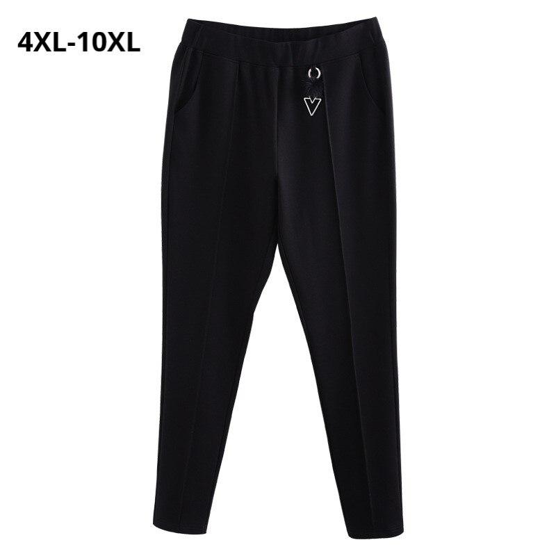 Plus 6xl Tiempo Tamaño Black Mujer Color Negro Durante 8xl Alta Cintura 4xl De Pantalones 10xl Mucho Lápiz Las Mujeres rF1xwr