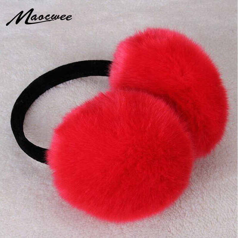 2018 Adult Winter Women Men Ear Warmer Earmuffs Lovers Ear Warmer Plush New Faux Rabbit Fur Ear Muffs For Girl Women Hot Sale