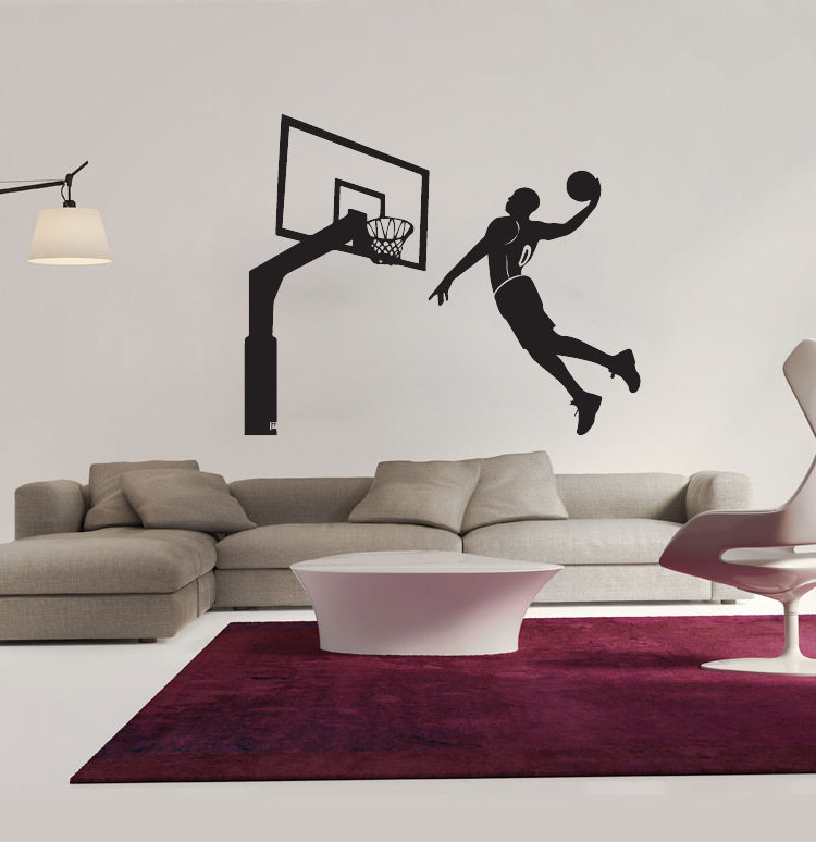 amazing design 4366cm basketball miss kobe dunk wall stickers removable livingroom bedroom art home decor wall decal