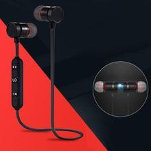Neue Bluetooth Kopfhörer Magnetische In ohr Stereo Sport Handy Universal Bluetooth V4.1 Komfortable Design Headset Tragbare