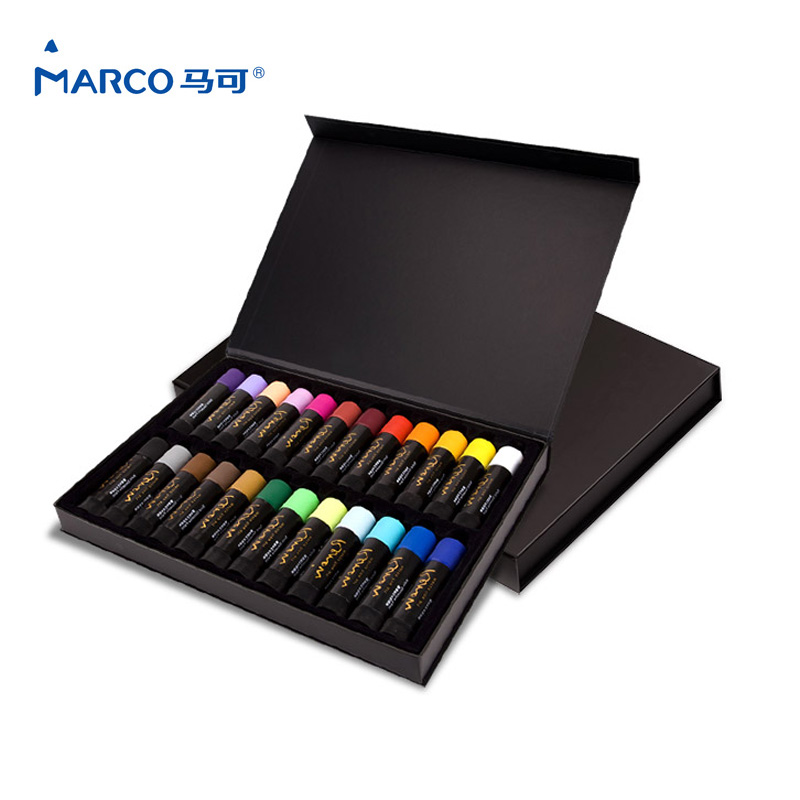 Marco Raffine Pencil Painting Stick 12/24 Colors Kid Art Oil Pastel Colored Drawing Magic Pencils Children Art Pencils iarts aha072962 hand painted thick texture of knife painting trees oil painting red 60 x 40cm