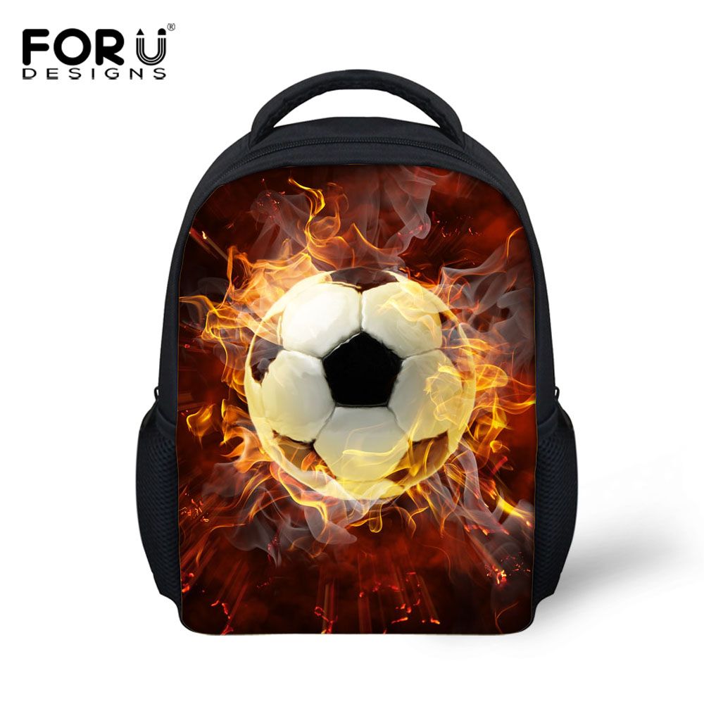 FORUDESIGNS 3D Ball Prints Mini Children School Bags For Boys Kindergarten Baby Schoolba ...