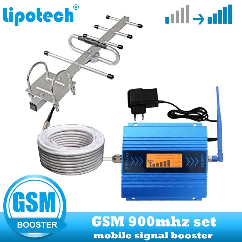 Penguat Sinyal Seluler GSM 2G 900mhz Telepon Seluler 900 Penguat komunikasi Repeater internet Dengan Kabel + Antena