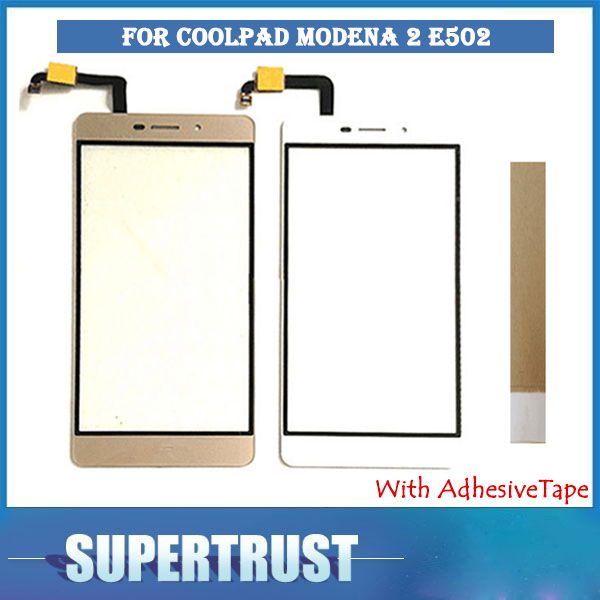 Haute Qualité 5.5 pouce Pour Coolpad Modène 2 E502 écran Tactile Avant Verre Capteur Noir Blanc Or Couleur L'assemblée Avec bande