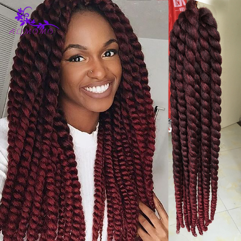 Crochet Braids European Hair : ... Hair 18 95g Synthetic Crochet Braids Havana Mambo Twist Crochet Hair