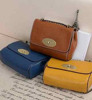 New Fashion 100% Full Grain Cowhide Leather Women shopping Bags Flap Cover Messenger Bag Designer Inclined satchel gril bag