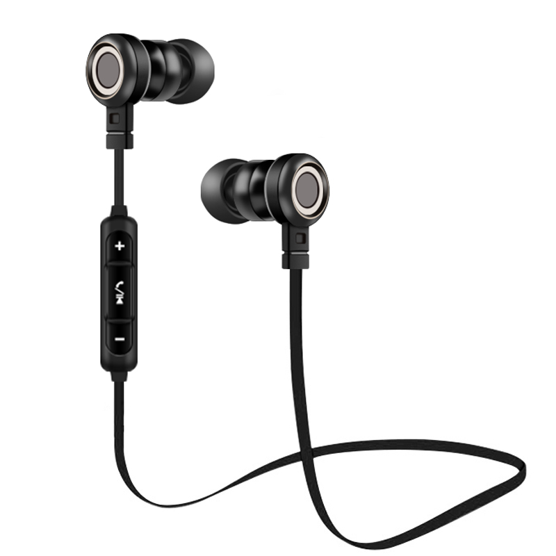 BN5 Brand Bluetooth Headphones Wireless Earphone with Mic Stereo Bass Sport Headset Earbuds For iphone 6 7 Mobile phones Headset