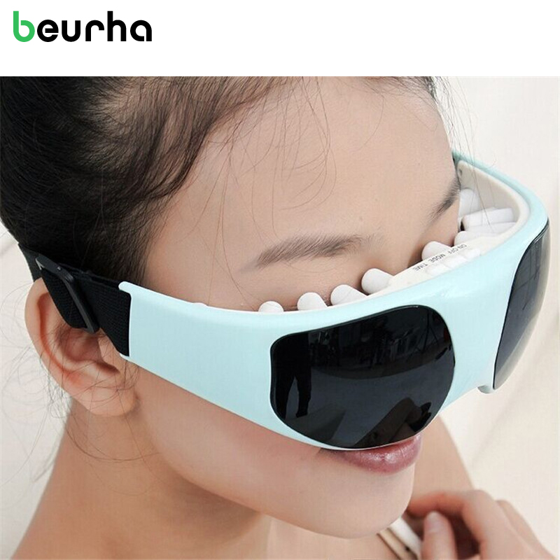 Beurha Eye massage device Health Care Electric Vibration Release Alleviate Fatigue Eye protection instrument Anti black eye Pain abs electric eye care massager magnetic therapy vibration alleviate fatigue dark circles alleviate massage healthy care