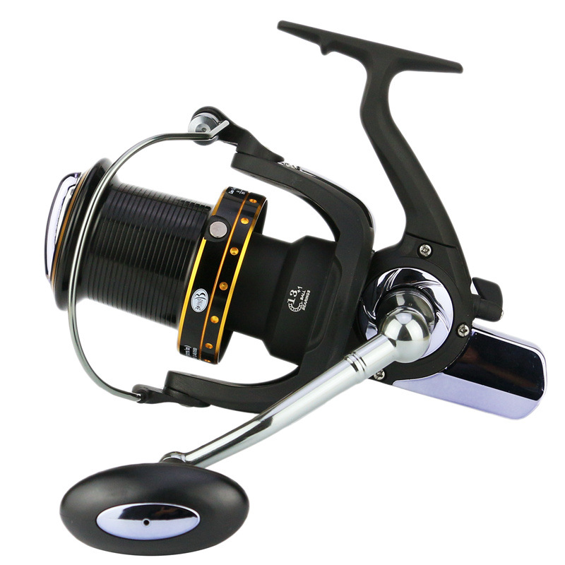 YUYU Sea Fishing Spinning Reel 6000 7000 8000 10000 Métal Bobine 12 + 1BB Saltwater Silure Pêche Au Surfcasting Bobine Lointain roue