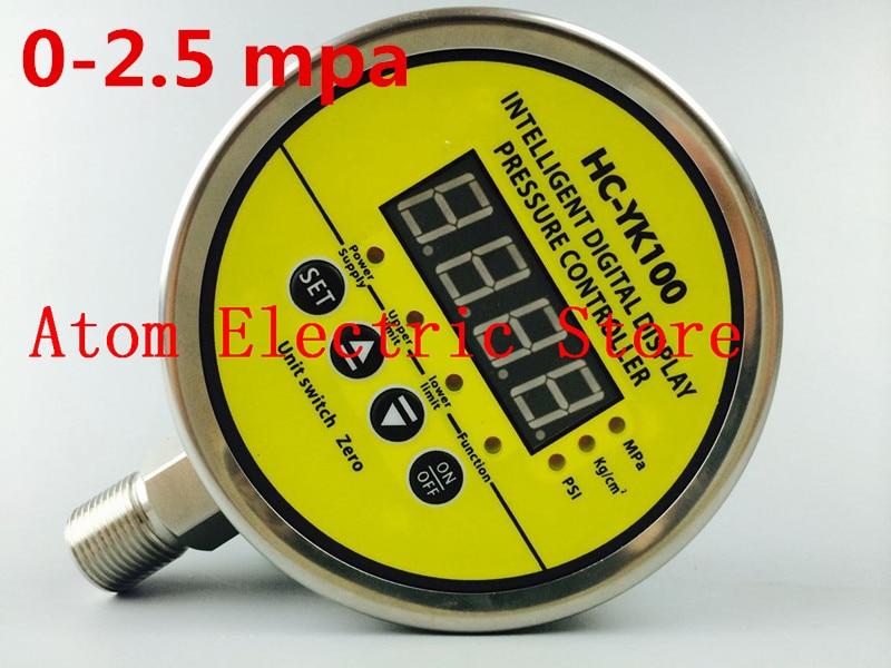 0-2.5 mpa  AC220V  Digital display electric contact pressure gauge digital controller dmx512 digital display 24ch dmx address controller dc5v 24v each ch max 3a 8 groups rgb controller