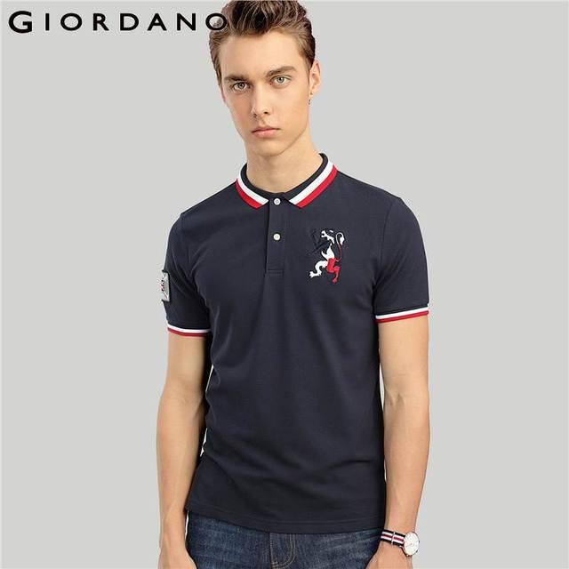 8d6774ed6 Giordano Men Embroidery Polo Union Jack Men Polo Shirt Man's Tshirt Brand  Short Sleeve Tops Camisa Polo Masculina