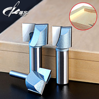 1pcs 1 2 1 4 SHK CNC Cleaning Bottom Router Bit 3D Woodworking Tungsten Milling Cutter