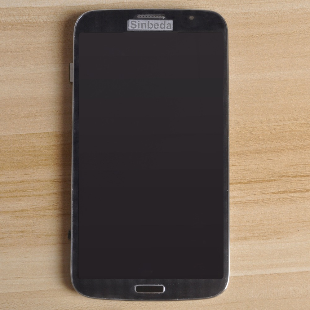 Original Super AMOLED LCD For <font><b>SAMSUNG</b></font> Galaxy Mega 6.3 <font><b>i9200</b></font> i9205 Touch Screen Digitizer Frame Assembly For Mega 6.3 LCD Display image