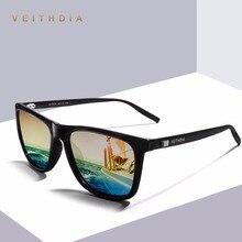 51a3c69432 VEITHDIA Unisex Retro Aluminum TR90 Polarized Mens Sunglasses Brand Designer  mirror