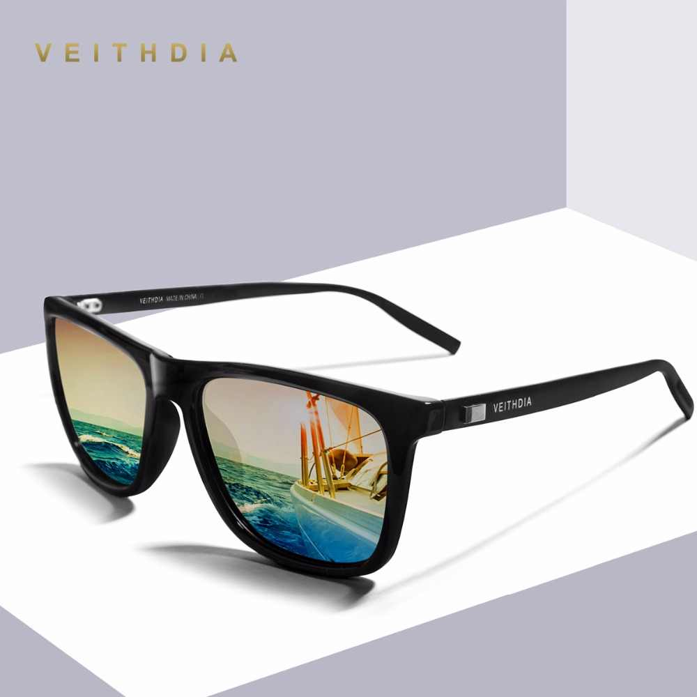 VEITHDIA Unisex Retro อลูมิเนียม + TR90 Polarized แว่นตากันแดดบุรุษแบรนด์ Designer กระจก VINTAGE ขับรถดวงอาทิตย์แว่นตาสำหรับผู้หญิง Shades