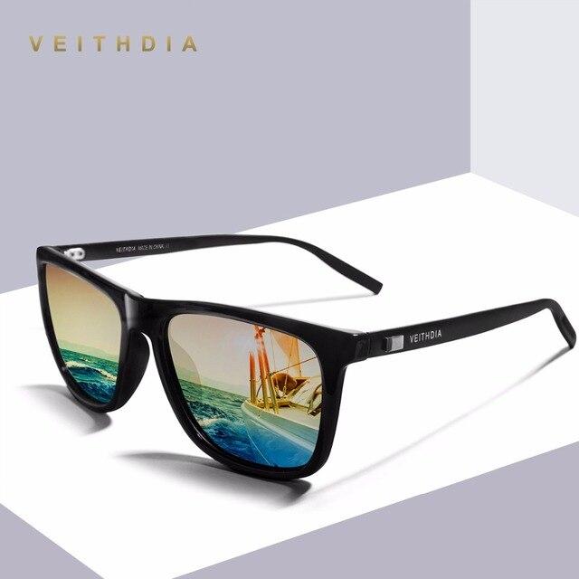 8de0e7405d Veithdia aluminio + tr90 unisex retro para hombre polarizadas gafas de sol  de espejo diseñador de