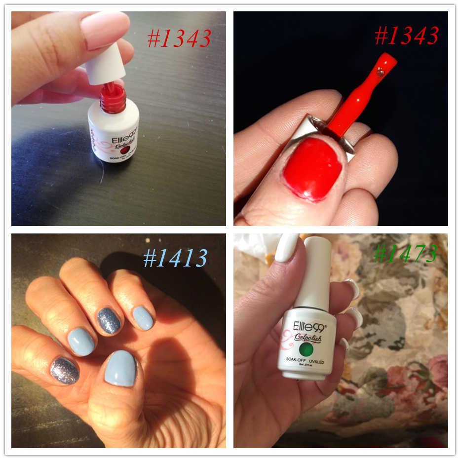 Elite99 8ml jel oje UV LED jel tırnak emmek tırnak jel cila Glitter çıplak kırmızı 241 renkler hibrid vernik Nail Art