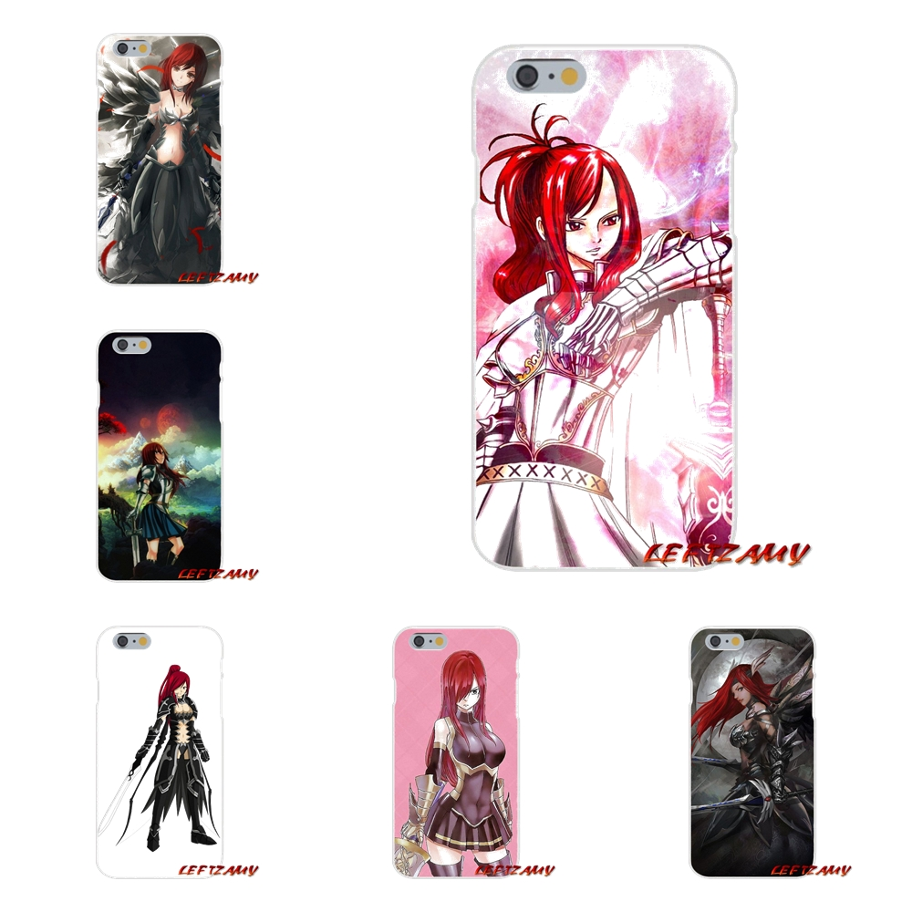 Accessories Shell Cases Fairy Tail Erza Black Logo On Hand For Samsung Galaxy S3 S4 S5 MINI S6 S7 edge S8 S9 Plus Note 2 3 4 5 8
