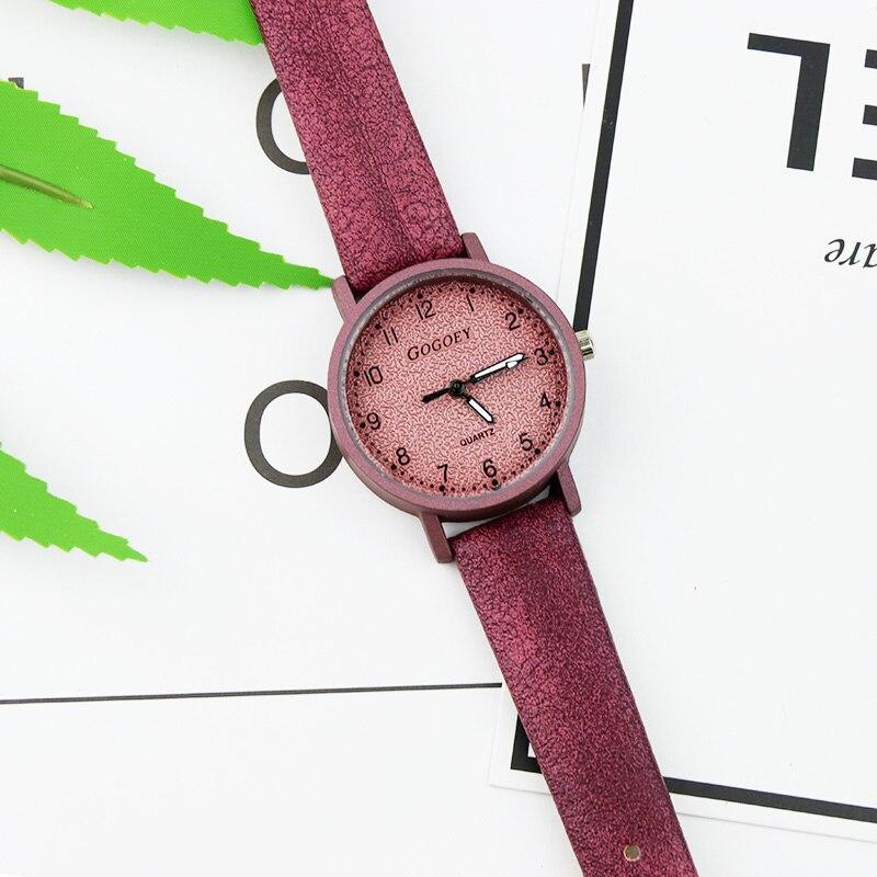 Gogoey Top Brand Women's Watches Fashion Leather Wrist Watch Women Watches Ladies Watch Clock Bayan Kol Saati Reloj Mujer #3
