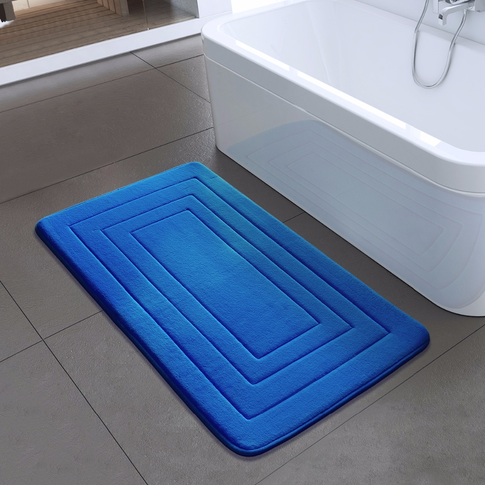 High Quality Bath Mat Bathroom Bedroom Non-slip Mats Foam Rug Shower Carpet for Bathroom Kitchen Bedroom 40x60cm 50x80cm ZA-003 2