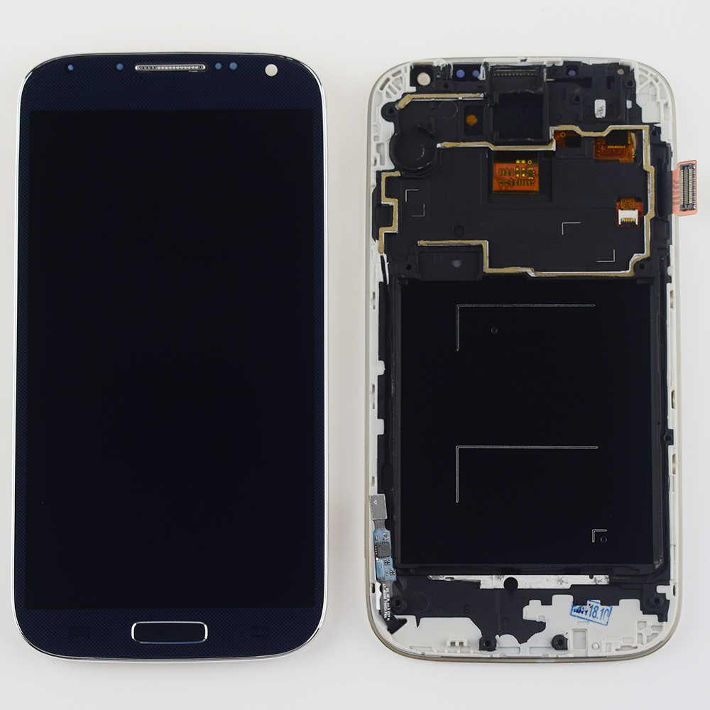 S4 شاشة الكريستال السائل مجموعة المحولات الرقمية لشاشة تعمل بلمس الإطار لسامسونج غالاكسي S4 i9500 شاشة عرض i9505 i337 استبدال