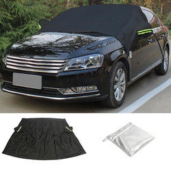 Durable Car Front Sunscreen Cover Anti Snow Frost Dust Sun Shade Shield Cover Universal for Car Windshield Protection Black