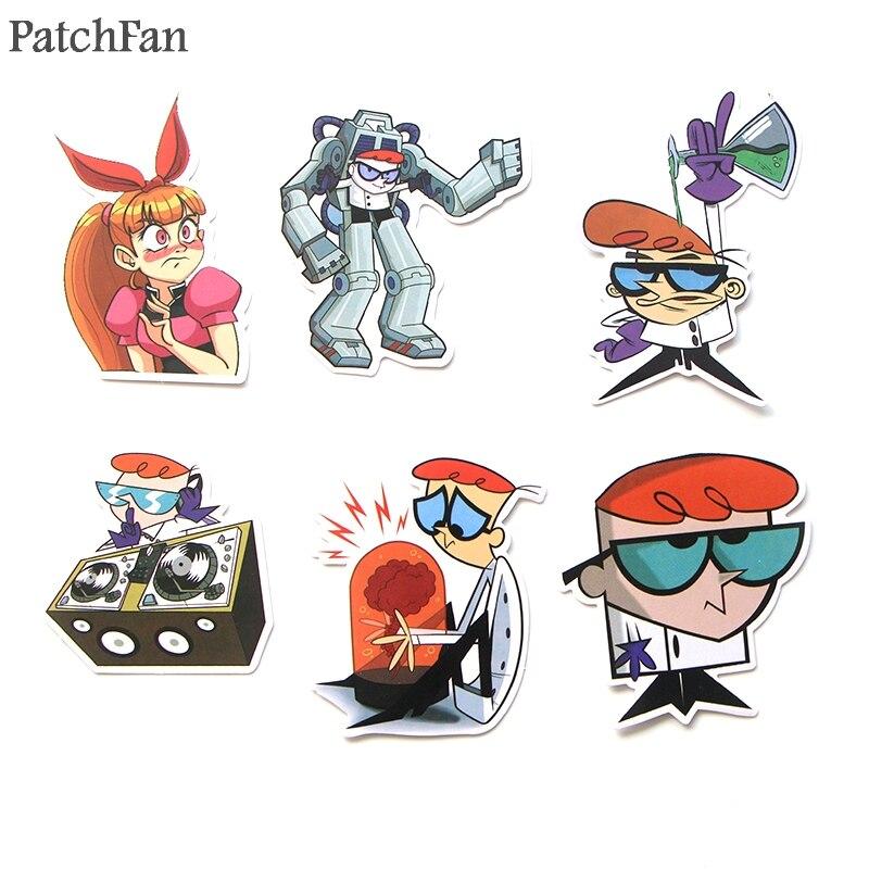 Patchfan 39pcs Dexter 39 s Lab cartoon Kids Toy Sticker for DIY scrapbooking album Laptop Phone notebook decal Sticker A1765 in Stickers from Home amp Garden
