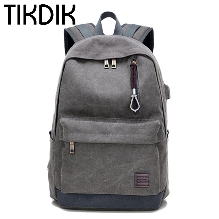 Male Canvas Backpack College Student School Backpack Bags for Teenagers Laptop Mochila Casual Women Rucksack Travel Daypack 2017