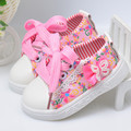 2017 First walkers baby girl shoes bowknot princess shoes soft bottom newborn toddler shoes children casual shoes kids sneakers