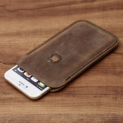 Vintage phone Case For iphone 6 Plus,cowhide leather phone