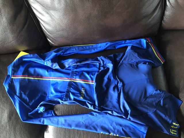 2019 pro equipe triathlon terno feminino camisa de ciclismo skinsuit macacão maillot ciclismo ropa ciclismo conjunto manga longa almofada gel 027 5