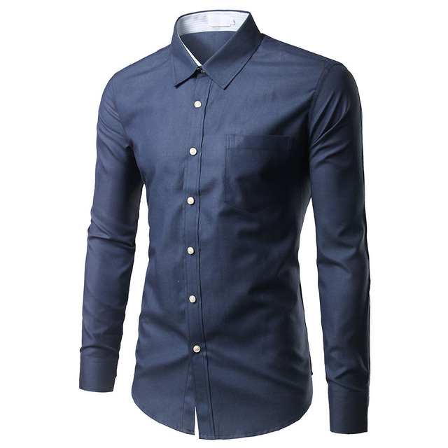 971272f1d57753 Brand Pink Shirt Men Chemise Homme Fashion Design Long Sleeve Slim Fit  Business Mens Dress Shirts