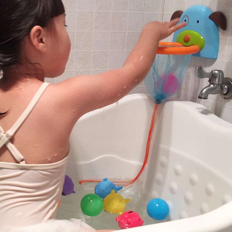 1Pc Children Baby Bathroom Bath Shower Toy Shooting Game Marine Mini Plastic Throw Basketball Play Water Shooting Toys