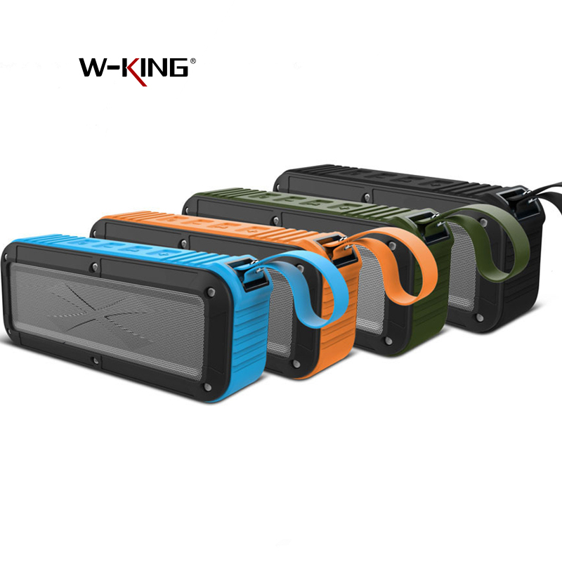 W-King S20 Portable Bluetooth Waterproof Speaker Wireless NFC Super Bass Loudspeaker TF Card AUX dalam Mp3 Player untuk Bike