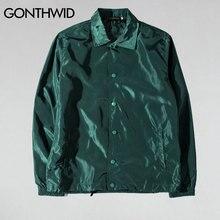 GONTHWID propósito Tour entrenadores chaquetas hombres Hip Hop Color sólido  Delgado abrigos chaqueta masculina moda Casual a32c8afa8ba