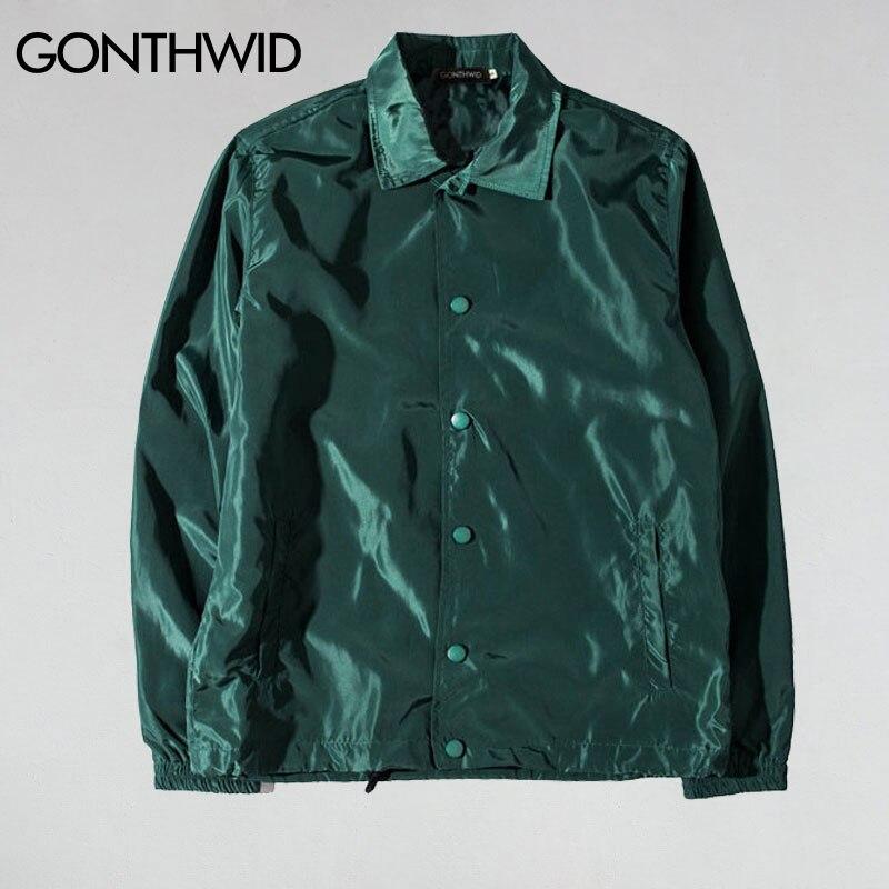GONTHWID Purpose Tour Coaches Jackets Mens Hip Hop Solid Color Thin Coats Jacket Male Fashion Casual Windbreaker Streetwear coach jacket coach jacket menjacket male - AliExpress