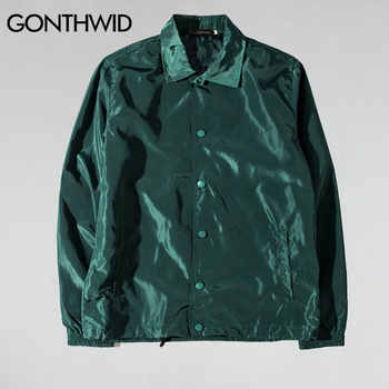 GONTHWID Purpose Tour Coaches Jackets Mens Hip Hop Solid Color Thin Coats Jacket Male Fashion Casual Windbreaker Streetwear - DISCOUNT ITEM  46 OFF Men\'s Clothing