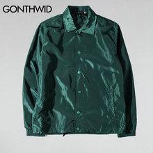 Gonthwid Purpose Tour Coaches Jassen Heren Hip Hop Effen Kleur Dunne Jassen Jacket Man Fashion Casual Windjack Streetwear
