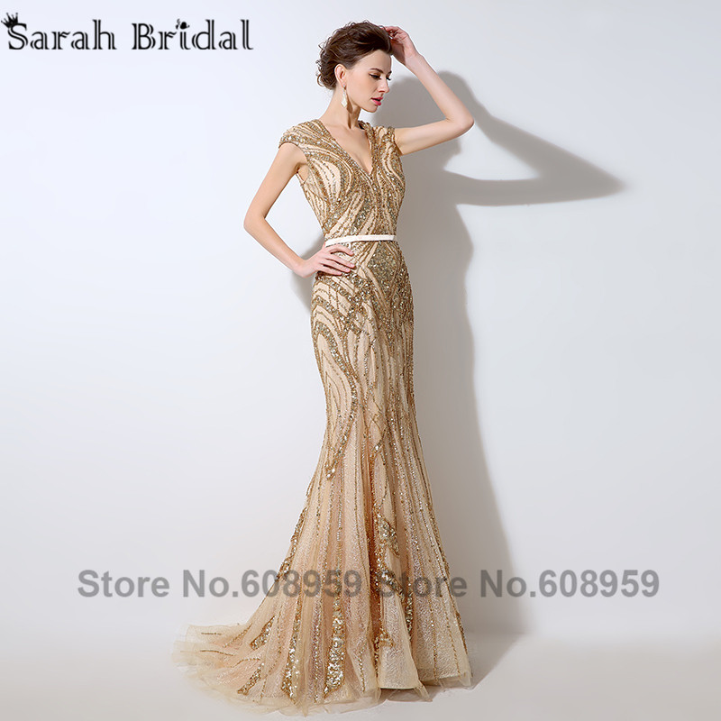 Terani Dress Gold Sequins