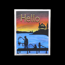 Fishing on the bridge Metal Cutting Dies Stencils DIY for Scrapbooking Paper Card making Craft Embossing stamps and dies