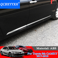 QCBXYYXH Car Styling Molding Door Body Strips For Toyota 8th Camry 2017 2018 Accessories Trim Covers External Decoration Strips