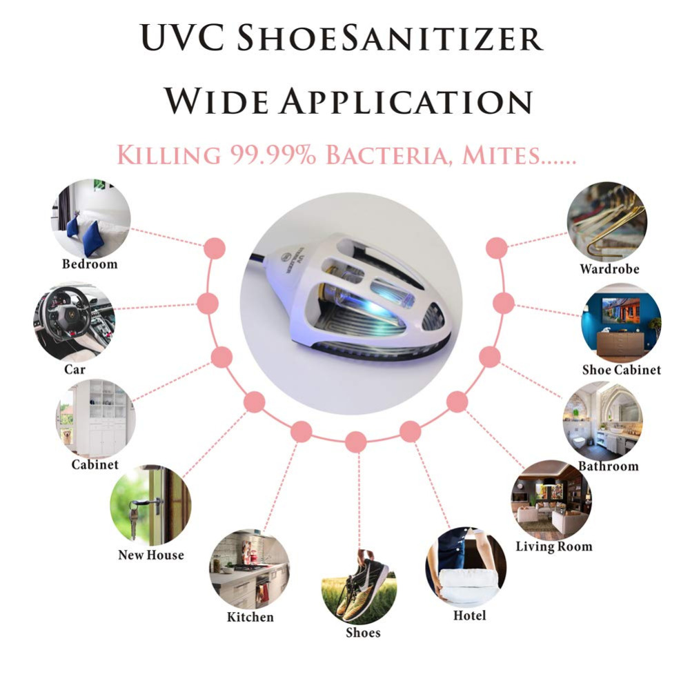 Shoes Boot UV Medical Sterilizer Dryer Warmer Deodorizer Dehumidify Sanitizer Ultraviolet Lamp Light Bulb Ozone Sterilization