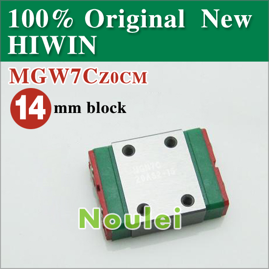 mini CNC parts HIWIN 7 series linear guide rail block MGW7 MGW7C MGW MGW7CZ0CM  цены
